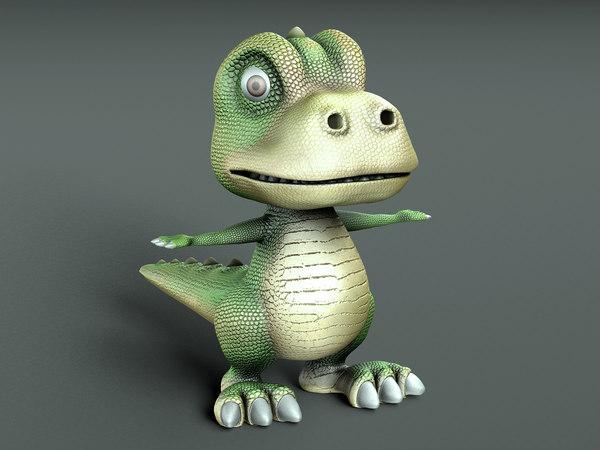 dinosaur cartoon 3D