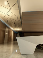 modern commercial reception space 3D model