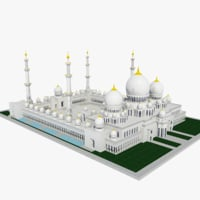 3D sheikh zayed mosque