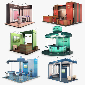 3D model exhibition stands