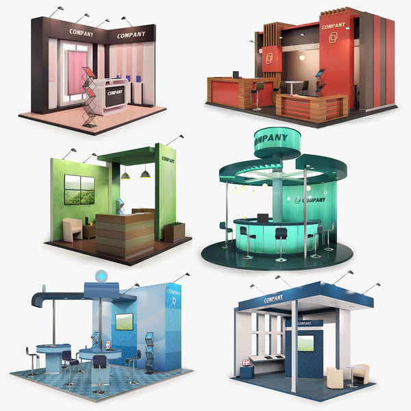 3D model exhibition stands