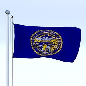flag pole 3D