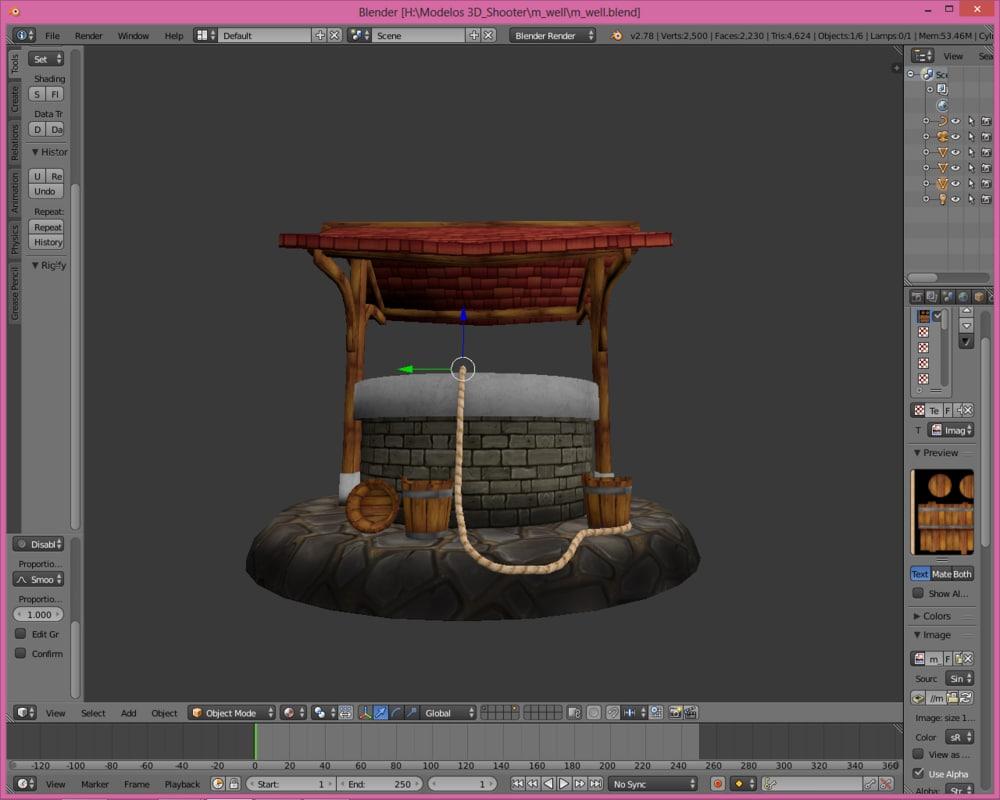 build well 3D model
