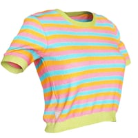 Top Stripes Colors Clothing Women Fashion