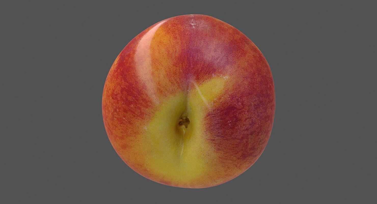 realistic peaches 3D