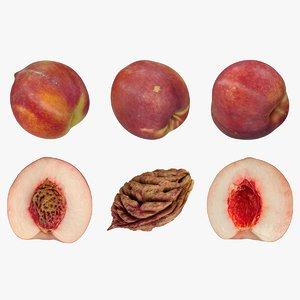 realistic peaches 3D