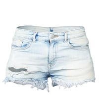 Shorts Jeans Light Blue Ripped Hole Clothing Women Fashion