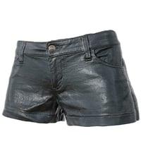 Shorts Black Leather Women Clothing