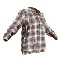 Shirt Brown Squares Women Clothing