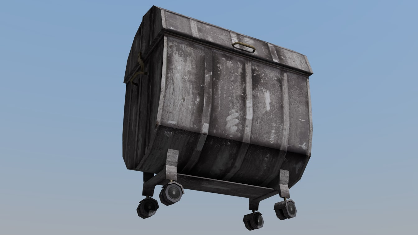 3D container garbage model