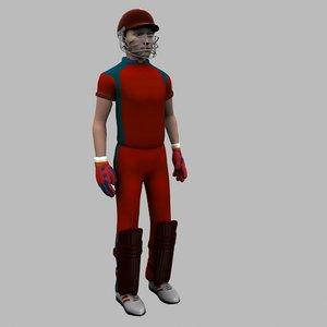 cricket wicket keeper 3D model