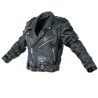 Jacket Moto Black Leather Closed Women Men Clothing