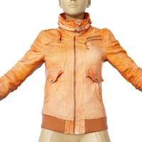Jacket Light Brown Leather Closed Clothing Women Fashion