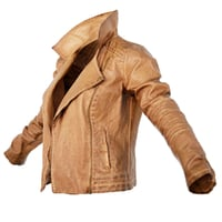 Jacket Dark Brown Leather Open Clothing Fashion Women
