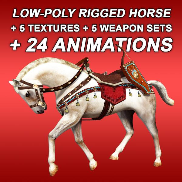 horse weapon shield model