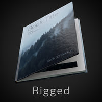 Rigged Hardcover Book Mockup