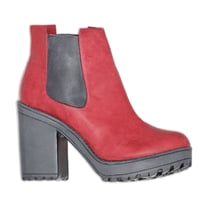 Boot Red Rubber Women Footwear