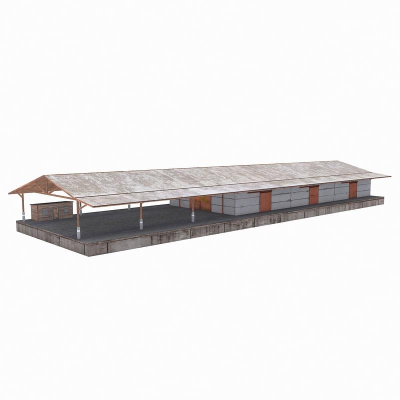 warehouse building 3D