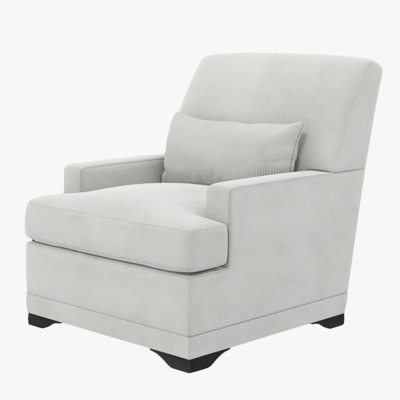 3D holly hunt carlyle lounge chair