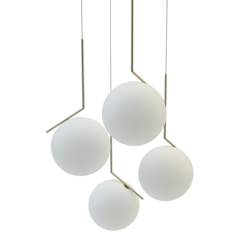 3D flos ic lights lamp model