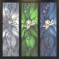 Stained glass window 'Lotus-flower'