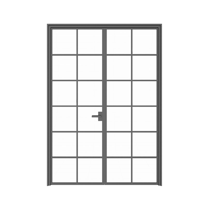 double glass door 3D