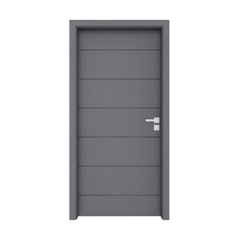 3D model grey door