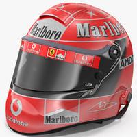 3D helmet michael schumacher 2004 model