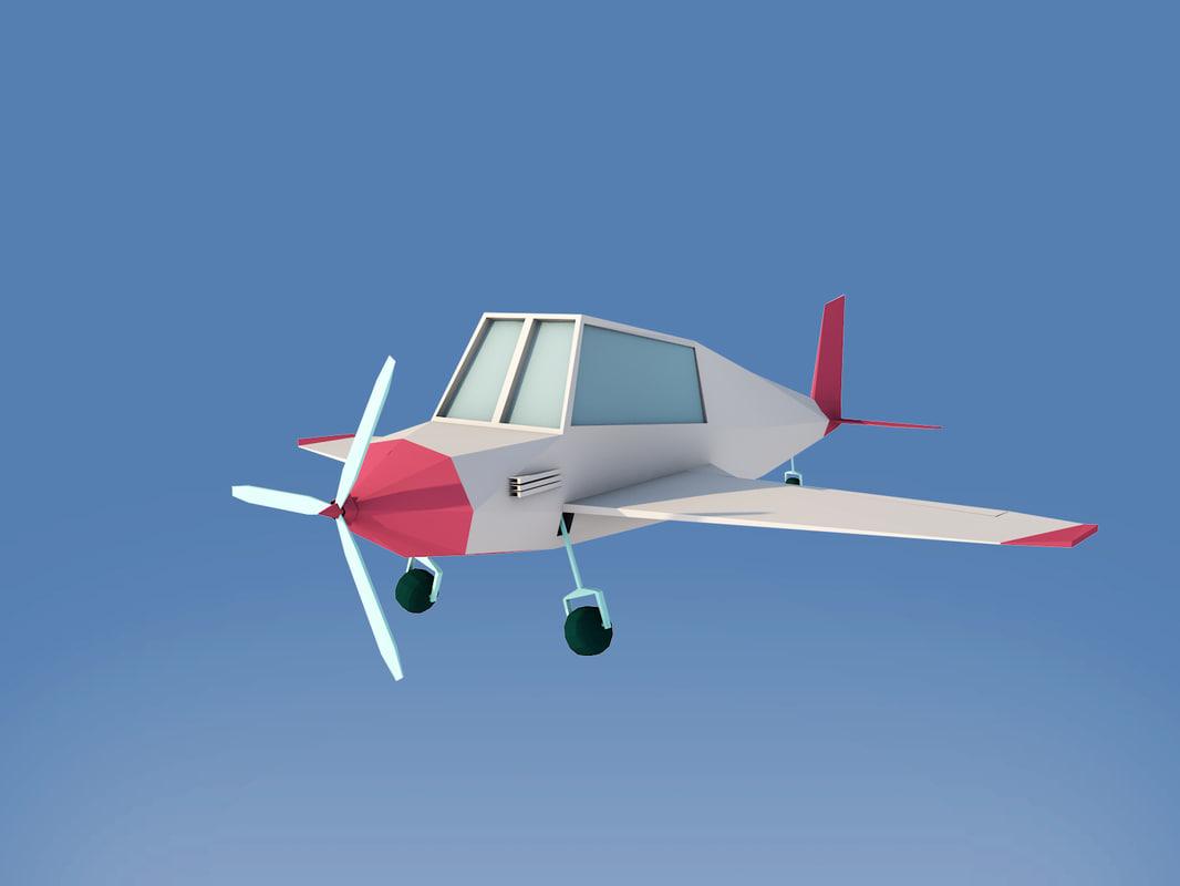 plane render 3D