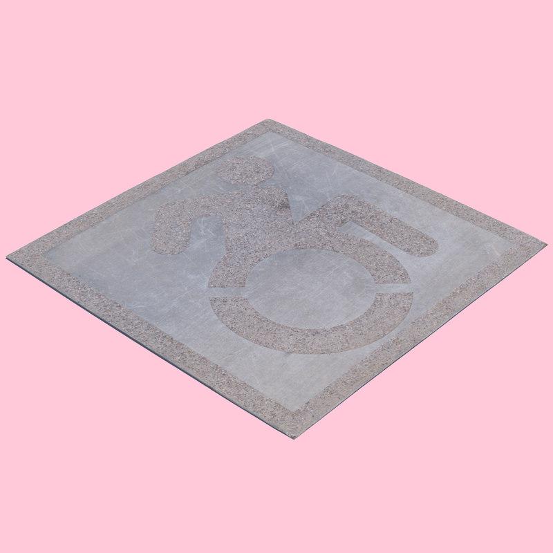 3D concrete handicap space