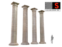 ancient pillar ready 3D model