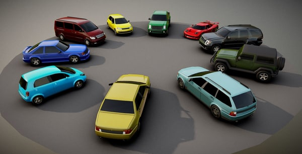 Low Poly Car 3D Models for Download | TurboSquid