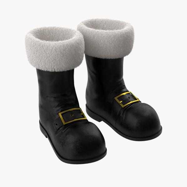 3D santa boots