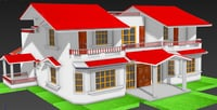 3D duplex house model