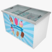 Ice Cream Freezer Low Poly