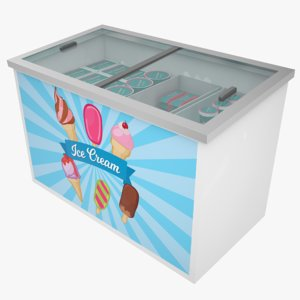ice cream freezer 3D model