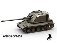 3D auf1 amx-30 tank