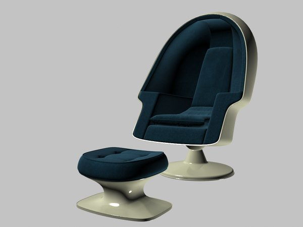 egg chair lee west 3D model