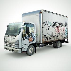 3D isuzu npr graffiti