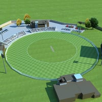 3D cricket ground
