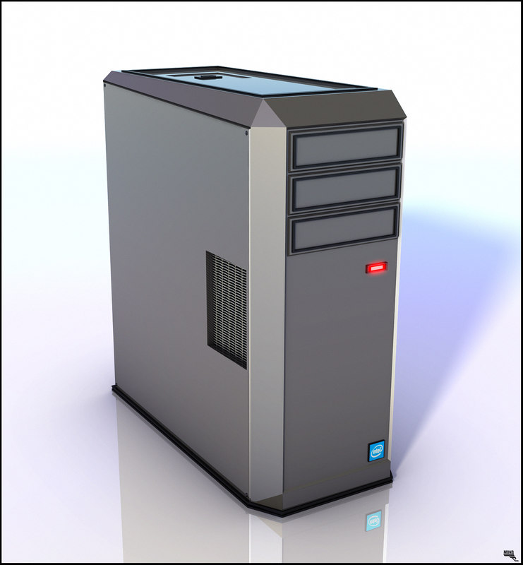 3D model computer tower