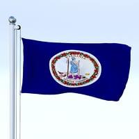 flag pole model