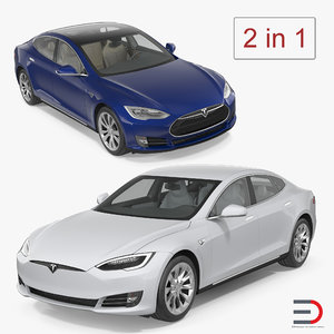 3D tesla s interior modeled