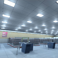 3D model mambo supermarket