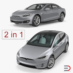 3D tesla cars s model