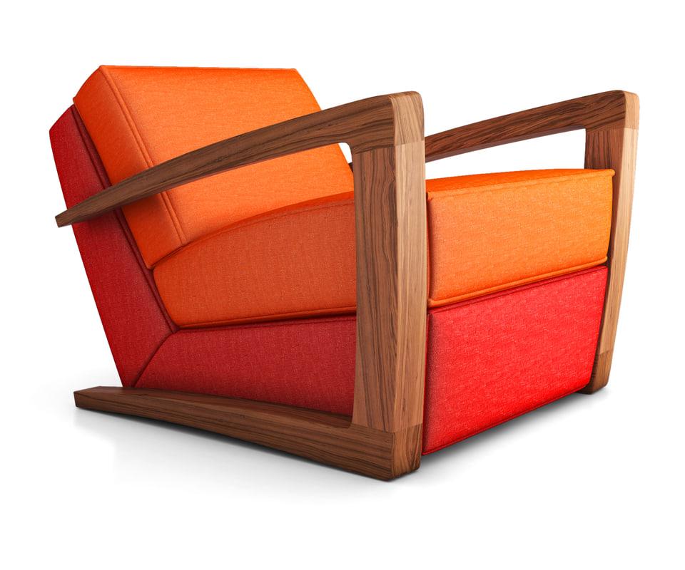 3D armchair bark chair