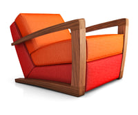 3D armchair bark chair