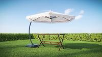 Garden Umbrella and Table