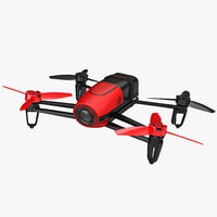 3D parrot bebop quadcopter drone model