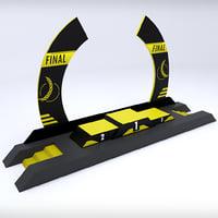 3D model sport arc podium